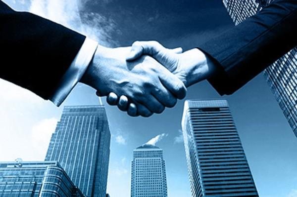 parceria hand shake