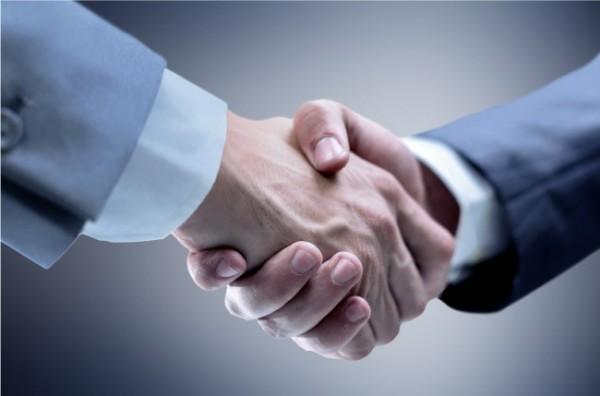 parceria hand shake aperto mao