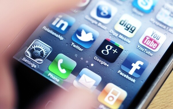 Apple iPhone with Social Media Apps