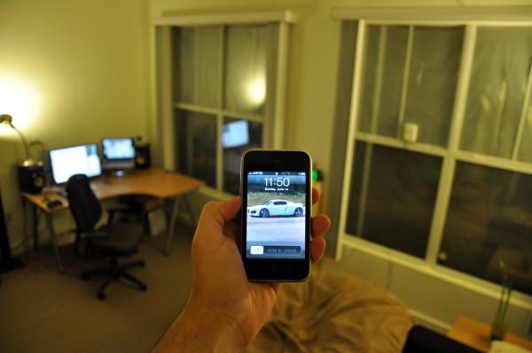 smartphone em casa