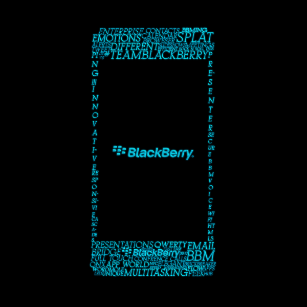 blackberry texto