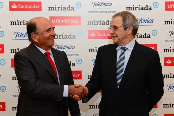 Emilio Botín (Santander) e César Alierta (Telefônica)