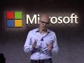 Satya Nadella, CEO da Microsoft, na apresentação do Microsoft Teams